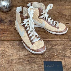 Nike Basket Weave / Leather Hightop Blazers